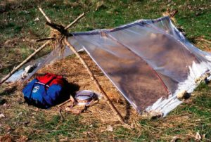 Cursos de supervivencia y bushcraft. Refugio simple